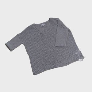 {James Perse} Gray Cashmere Open Knit Sweater